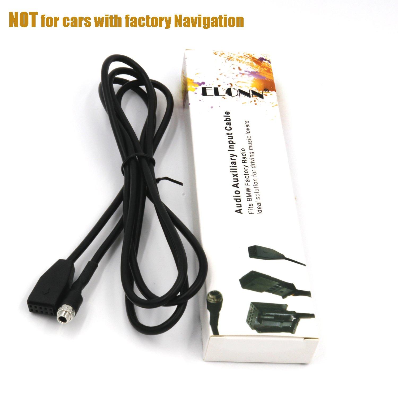 ELONN BMW Audio Auxiliary Input Cable for BMW 3 E46(2003-2006),CD-like Sound Quality
