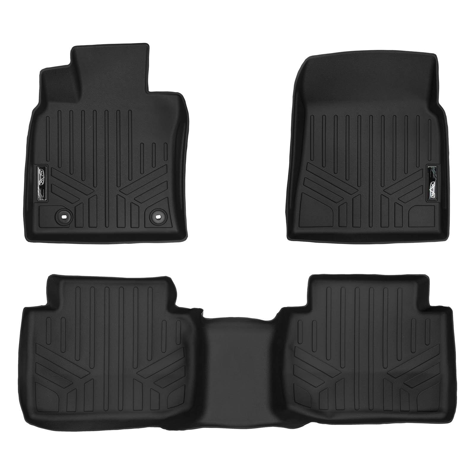 SMARTLINER Floor Mats 2 Row Liner Set Black for 2018 Toyota Camry Standard Models Only (No Hybrid)
