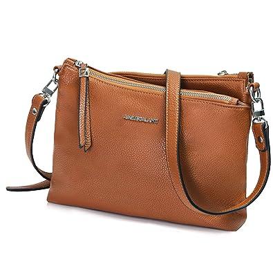 5e437efd37f Amazon.com: AMELIE GALANTI Crossbody Bags for Women, Purses and Handbags PU  Leather Shoulder Bag Satchel Brown: Shoes
