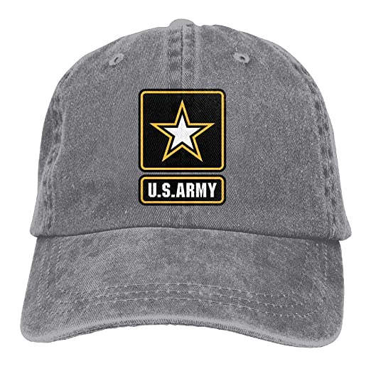 Amazon.com  Jiuyuan Us Army Star Low Profile Plain Baseball Cap Vintage  Washed Dad Hat Outdoor Hat  Clothing e1d17f031fac