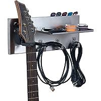 shinar SU304 - Soporte de pared para guitarras acústicas y eléctricas con 3 estantes de pared de gancho para secador de…
