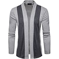 WuyiMC Men's Knitwear, Stylish Men Fashion Cardigan Jacket Slim Long Sleeve Casual Coat