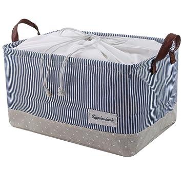 Cestos para la organización de almacenamiento de ropa - cestas de almacenamiento hechas de algodón ecológico.