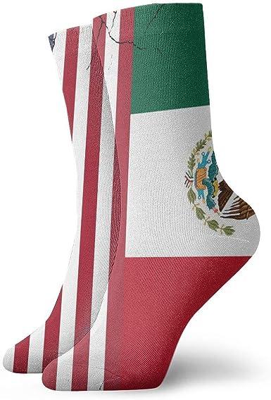 yting Calcetines de vestir de la bandera de México de EE. UU. Calcetines divertidos Calcetines locos Calcetines casuales para niñas Niños: Amazon.es: Ropa y accesorios