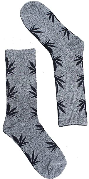 Calcetines cannabis gris y negro - Kultur Kush (HUF Style - talla única 35-