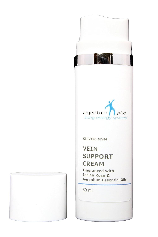 Argentum Plus Silver-MSM vena apoyo crema con rosa de la ...