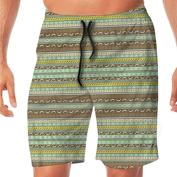 KIENGG Mens Swim Trunks with Mesh Lining Pockets Colors of Never Formatted Boys Polyester Board Shorts Swimwear