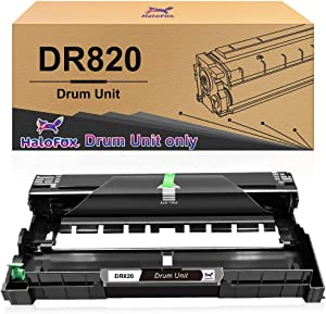 HaloFox Compatible Drum Unit Replacement for Brother DR820 DR-820 DR 820 (Black,1 Drum)
