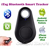 Gadget Hero's iTag Bluetooth Tracer Anti-Lost Alarm Remote Shutter Voice Recorder GPS Tracker Black. Key Finder Locator Alarm For IOS iPhone Android.