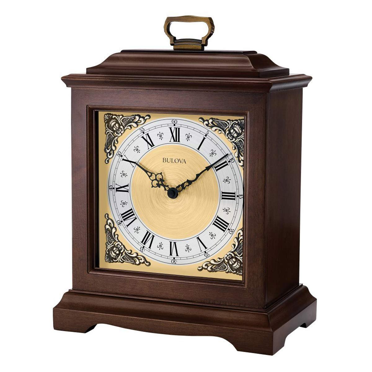 Bulova Thomaston Mantel Clock, Brown by Bulova