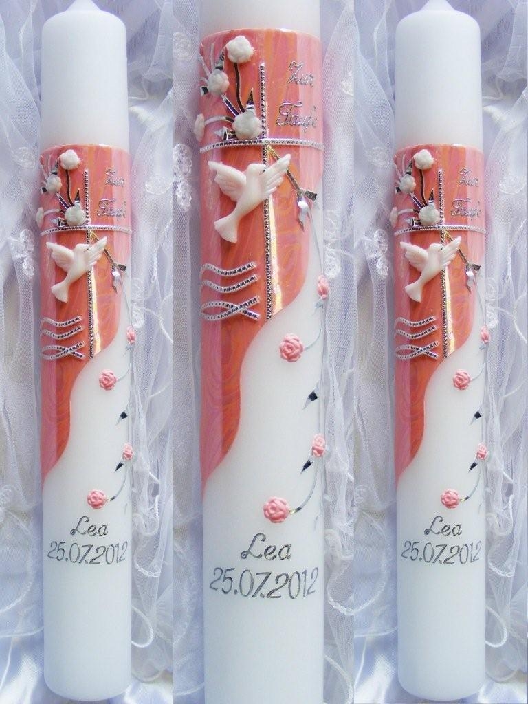 Arte vela de Comunión niñas 400/40 mm VT-28 incluye accesorios para incluso y etiquetar otras kerzenzauber-lusine