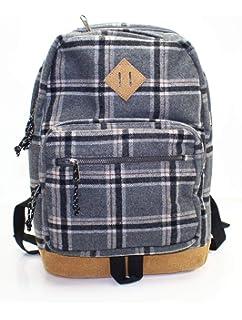 a652a03216e Amazon.com | Steve Madden Mens Flannel Plaid School Backpack Navy O ...