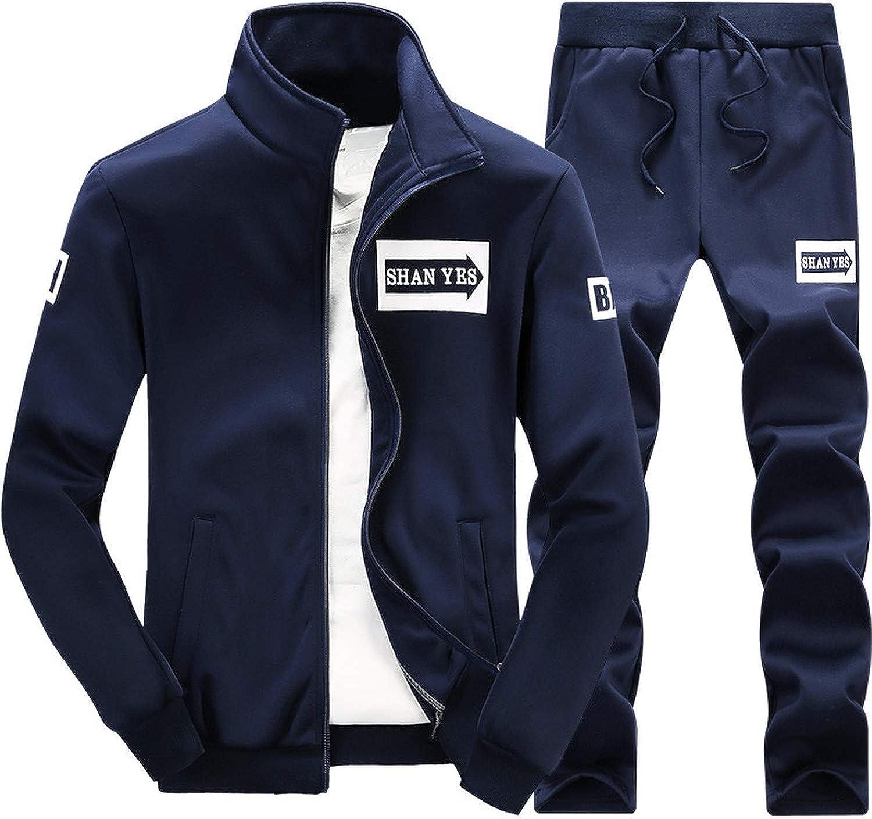 Pans Suit Mens Set 2PC Zipper Autumn Sportswear Casual Tracksuit Male 2019 Sweatshirt Jacket