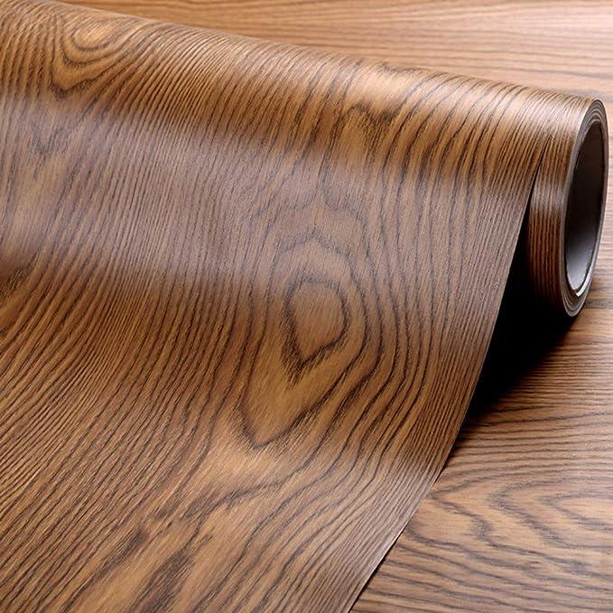 Walnut English 900mm//m Vinyl Depot Self-Adhesive Plastic Decorative Sticky Wood