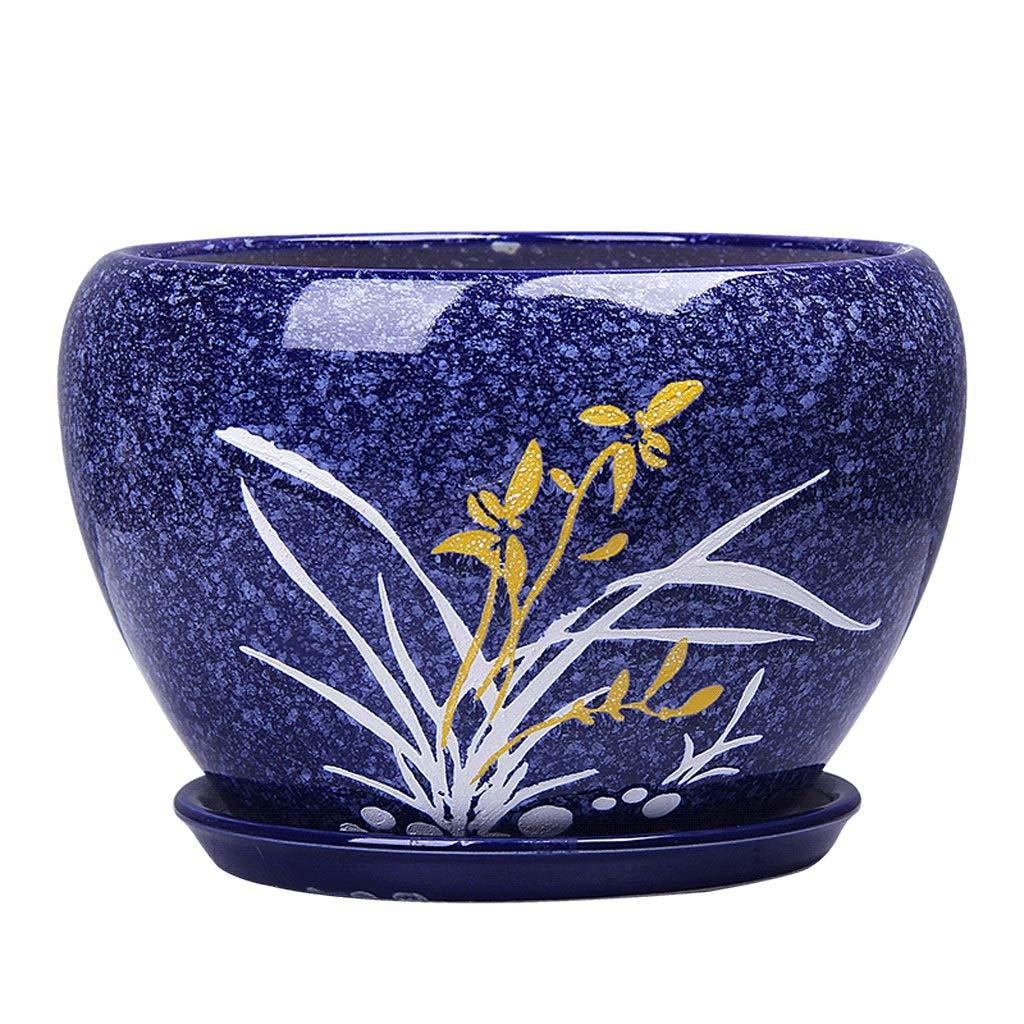 PLL Vaso da Fiori per la casa in Ceramica Semplice e Assorbente in Ceramica in Stile Cinese (Dimensione   XL)