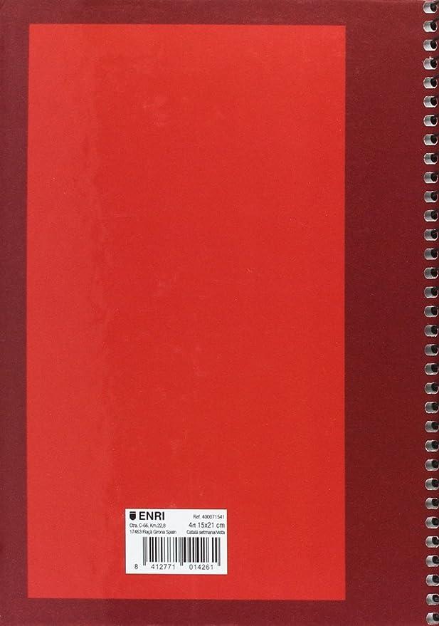 Enri 421857 - Agenda escolar, formato A4, semana vista ...