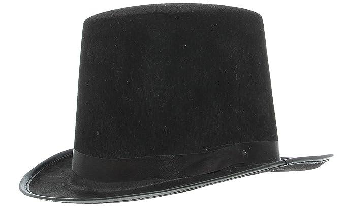 La vogue Sombrero Chistera Fieltro Unisex Disfraz de Mango Color Negro   Amazon.es  Juguetes y juegos cbd09fcfab5