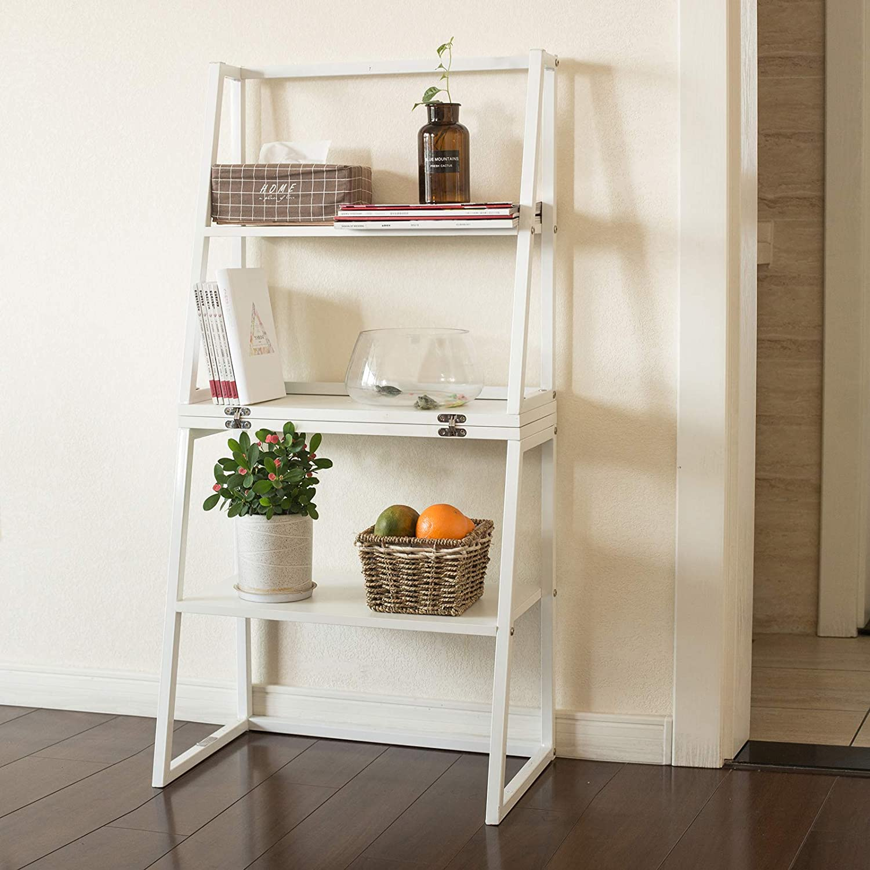 Zubehör zu SoBuy FRG272-W Design Leiterregal Bücherregal mit ...