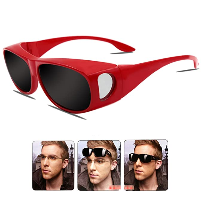 Gafas de sol deportivas polarizadas UV400,Gafas de Sol Para Colocar Sobre las Gafas Normales