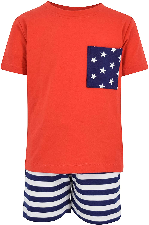 Unique Baby Boys Patriotic 4th of July 2-Piece Summer Outfit