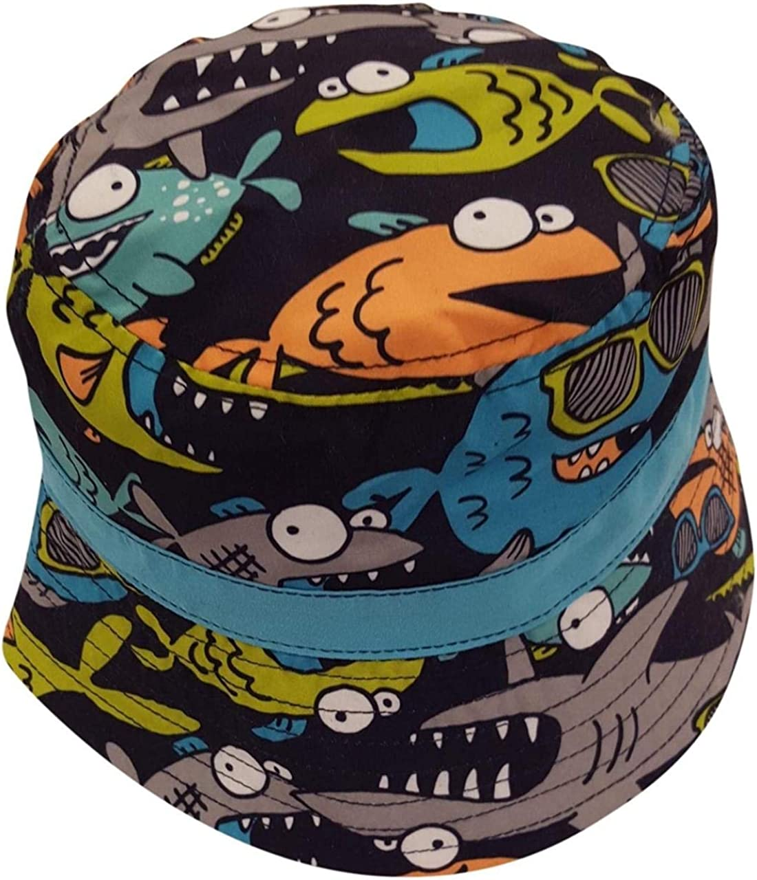 Circo Baby Infant Boys Fish and Sharks Fun Bucket Swim Hat or Board Shorts Swim Trunks with Mesh Lining