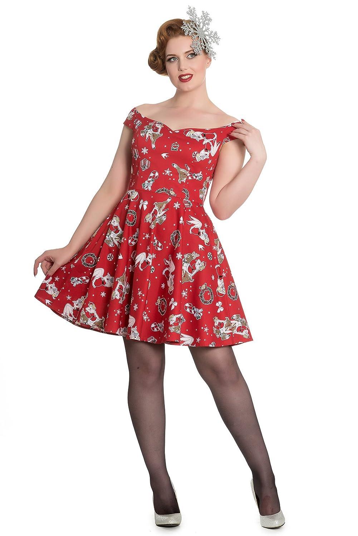 Hell Bunny Blitzen Christmas Party Mini Dress