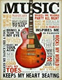 Music Inspires Me Distressed Retro Vintage Tin Sign 13 x 16in by Poster Revolution