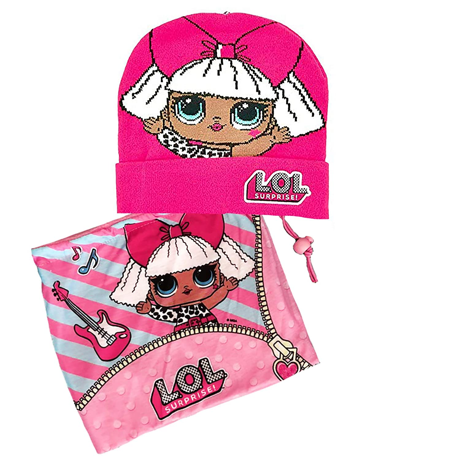 Hat /& Glove Set Pink Rosa Acceso 54 Lol Surprise Girls Scarf