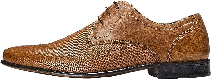 TALLA 42 EU. Marca Amazon - find. Zapato de Cordones con Textura en Piel para Hombre