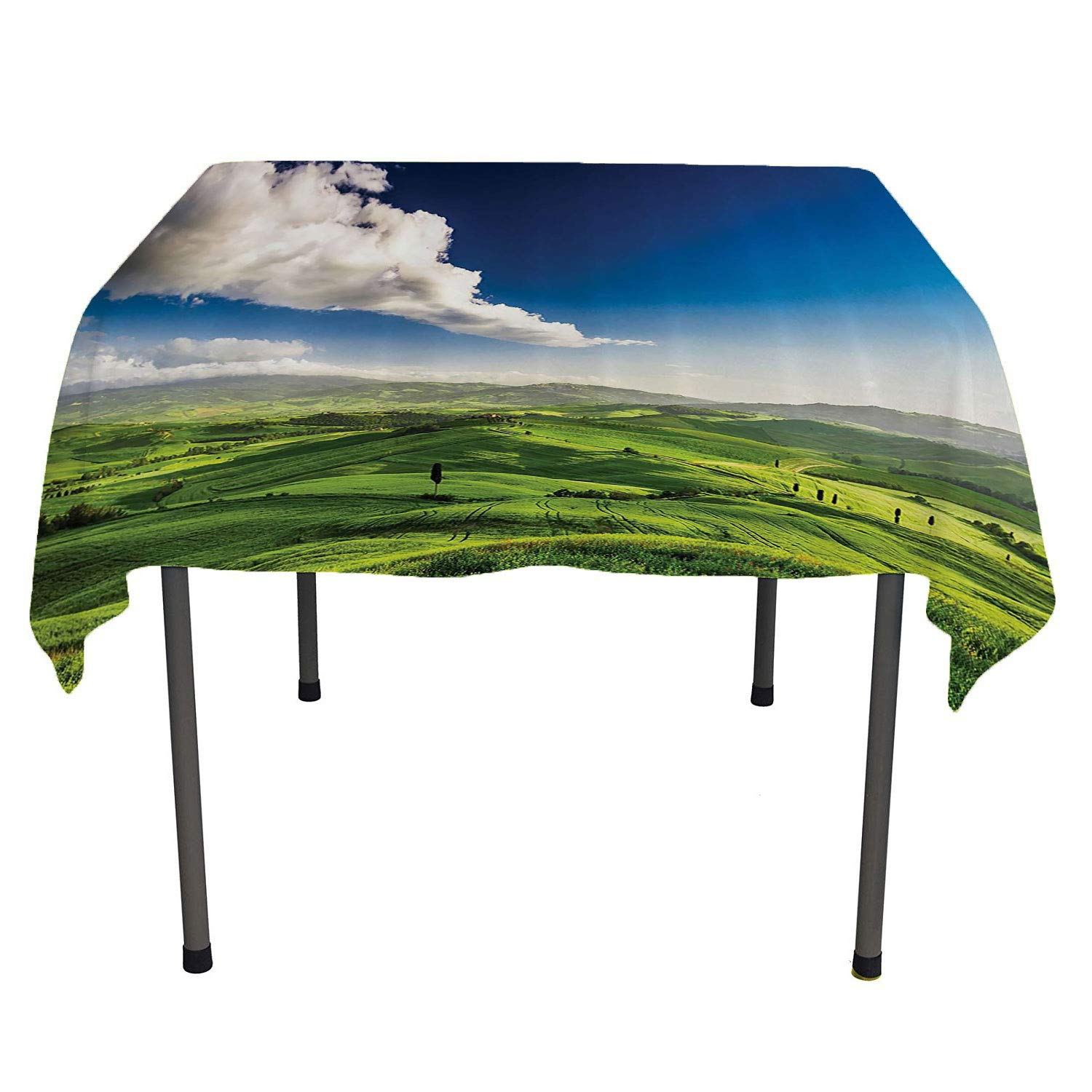 color10 60  W By 90  L All of better Dinning Tabletop Decoration Mountain Peak Snowy Winter colorful Overcast Sky Sunbeams Adventure Austria Europe Image Table Cloth Picnic Outdoor Spring Summer Party Picnic 60 by 84