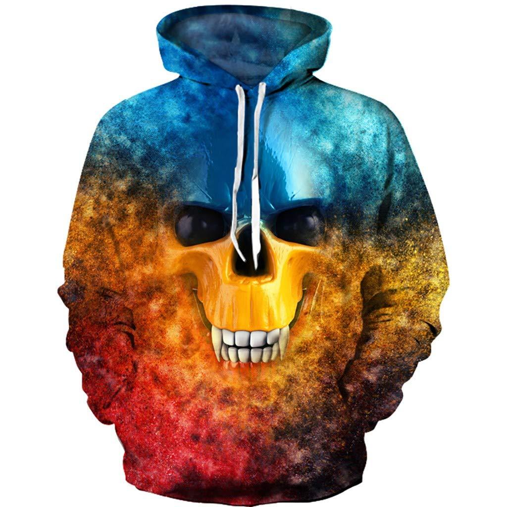 Alangbudu Women&Men Unisex Halloween Both Side Print Hoodie Pullover Long Sleeve Sweatshirt Oversized Tops Blouse Tunic by Alangbudu-Women's Long sleeve blouses & sweatshirts & hoodies