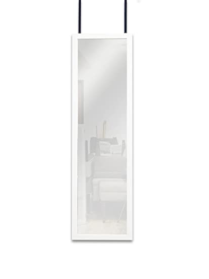 Amazon Com Mirrotek Door Hanging Mirror 14 X 42 White Home