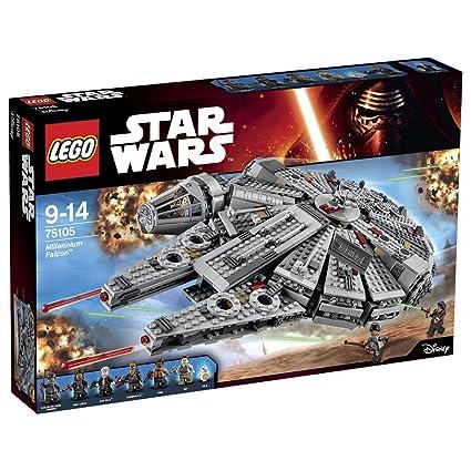 Lego Star Wars Halcon Milenario 75105 Amazon Es Juguetes Y Juegos