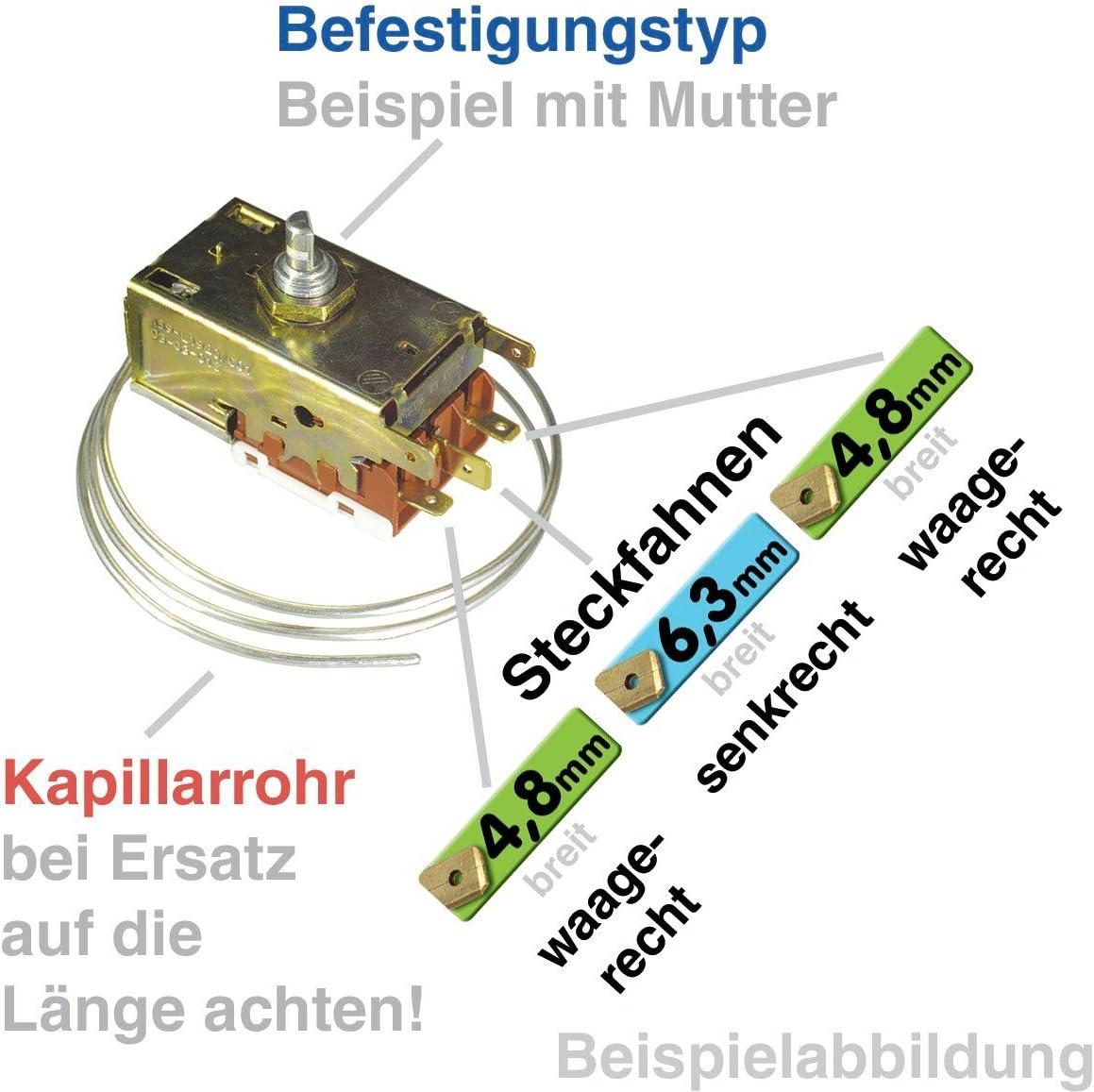 Thermostat K57-L5537 Ranco 900mm Kapillarrohr 3x4,8mm AMP