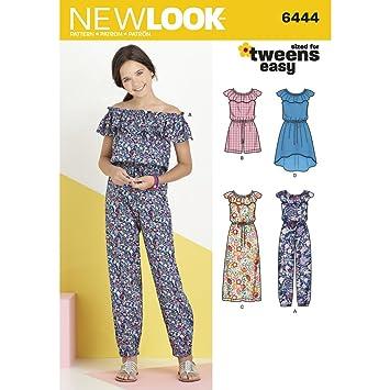 New Look Mädchen Kleid und Overall in zwei Längen Schnittmuster ...