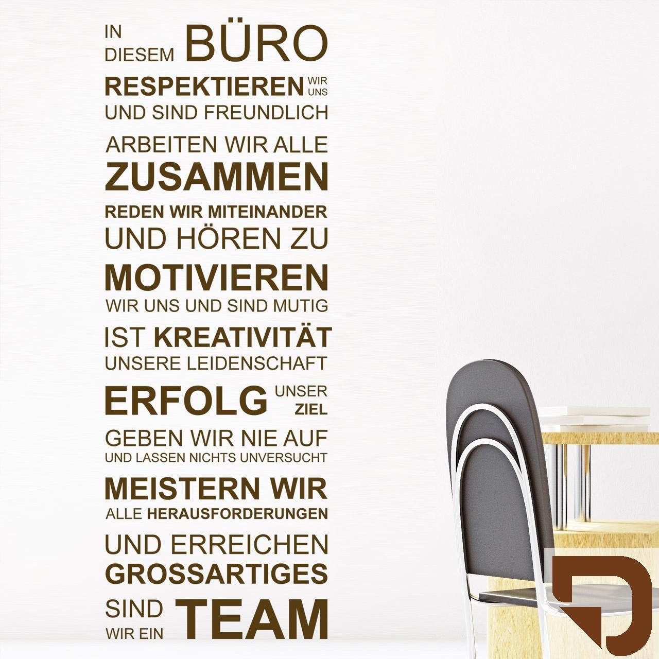 DESIGNSCAPE® Wandtattoo In diesem Büro respektieren wir uns, arbeiten wir wir wir alle zusammen, geben wir nie auf, sind wir ein Team... 67 x 180 cm (Breite x Höhe) schwarz DW801462-L-F4 B01DT7FV7W Wandtattoos & Wandbilder 3a5aea