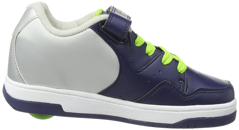 Heelys Kids Hyper NVY//SLV//LIM SYN Leather Sneaker