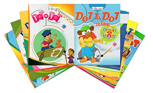 Inikao Dot to Dot King Size Colouring Book Collection set of 8