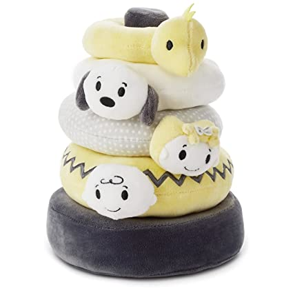 Amazon Com Hallmark Itty Bittys Peanuts Baby Stuffed Animal Stacker