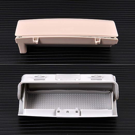 Basage 1KD 868837 D//e//G Caja de Gafas de Sol Estuche de Vidrio Solar Soporte de Gafas para MK5 MK6 5 Passat B6 B7 Superb Gris