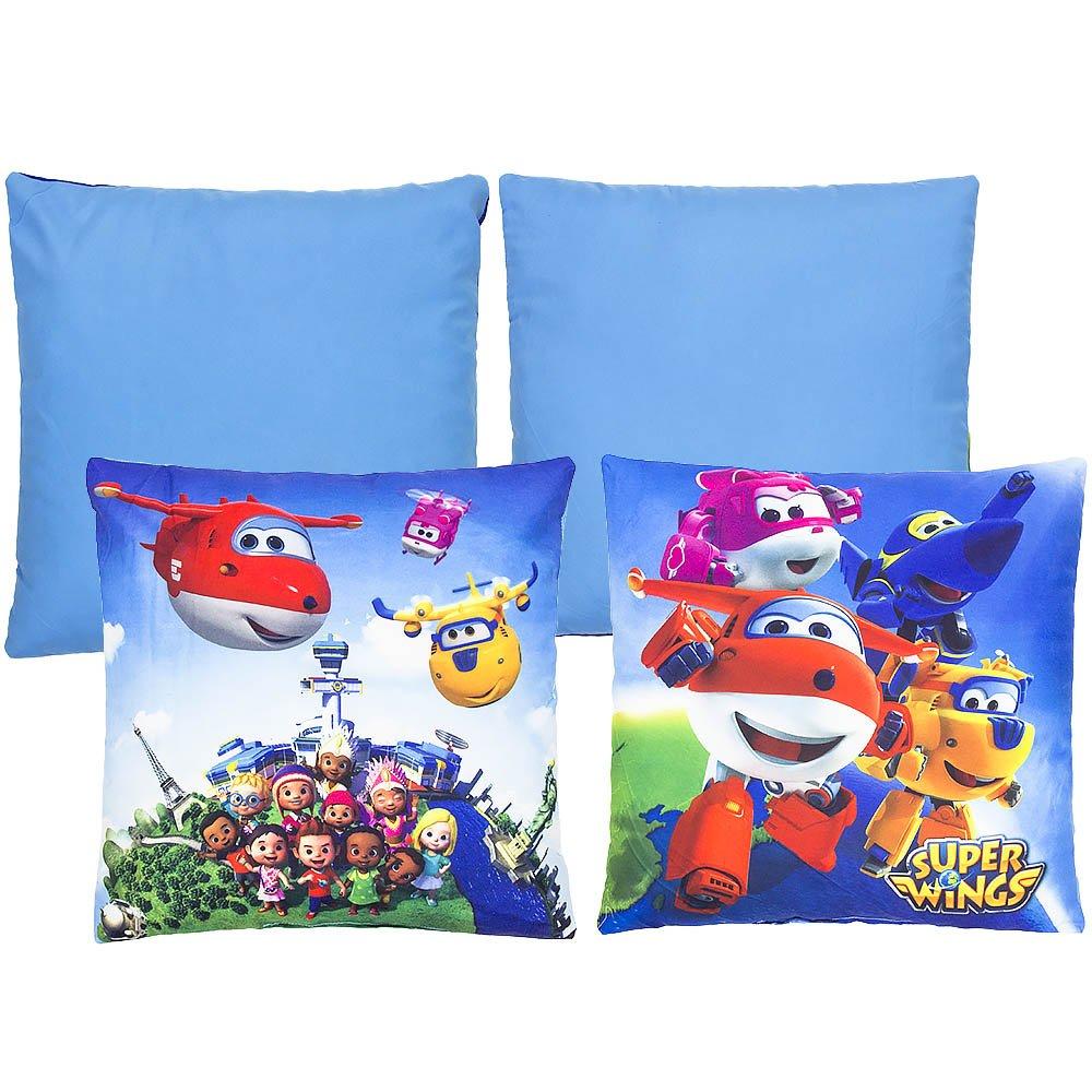 Super Wings Kids 35 X 35 cm Pillow,Square Cushion (Set of 2)