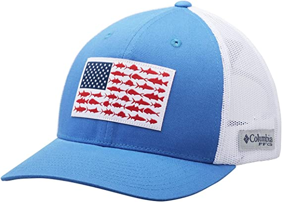 Columbia Unisex PFG Mesh Snap Back Fish Flag Ball Cap: Amazon.es ...