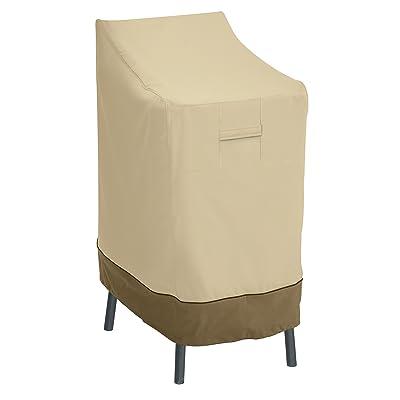 Classic Accessories Veranda Water-Resistant 26 Inch Patio Bar Chair & Stool Cover : Garden & Outdoor