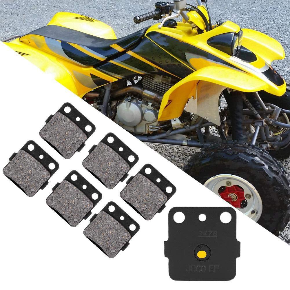Fydun Front /& Rear Brake Pads Brake Pads Iron 6Pcs for Honda TRX400EX TRX400X Sportrax 99-14