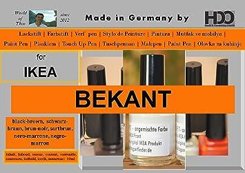 Farbstift Lackstift Touch-Up-Pen for IKEA BEKANT schwarz-braun ...