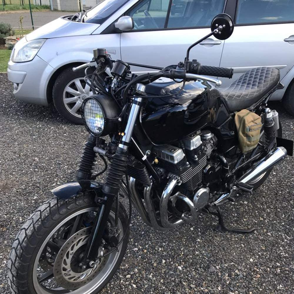Black Motorcycle Headlight Bracket Mount Clamp 39mm-41mm CNC Fork Tube Spotlight Holder for Harley Chopper Bobber Cafe Racer Universal