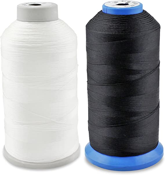 by PsmGoods PsmGoods/Ã/'/Â/® Bonded Nylon Sewing Thread Strong for Sewing Machine Hand Stitching White