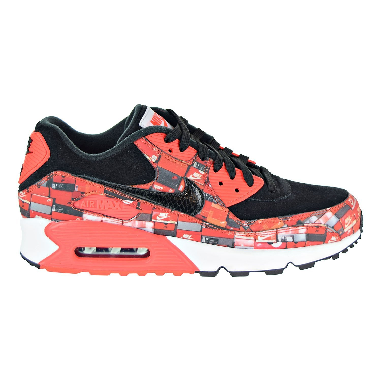 online store f8d31 5110e Nike Mens - Air Max 90 Print Atmos We Love Black Bright Crimson White -  AQ0926-001  Amazon.co.uk  Shoes   Bags