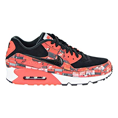 promo code 284ed 67bc3 Nike Mens Air Max 90 Print Black/Crimson-White Synthetic Size 9