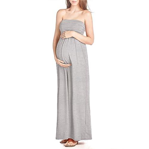 Beachcoco Womens Maternity Comfortable Maxi Tube Dress Made in USA